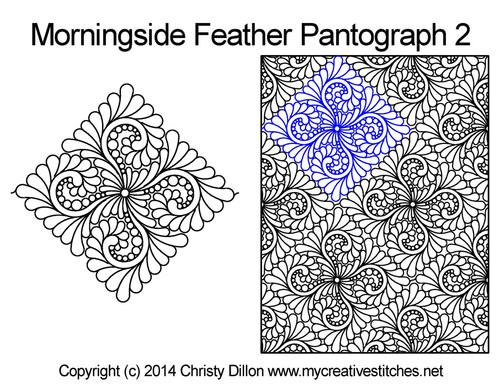 Morningside feather digital pantograph 2