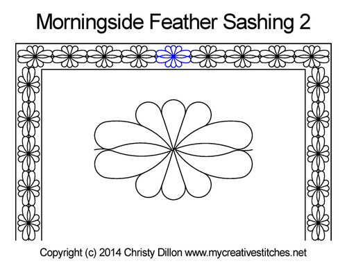 Morningside feather sashing 2 quilting designs