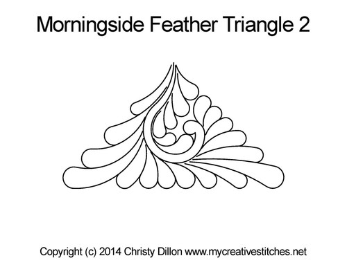 Morningside feather triangle 2 digitized design
