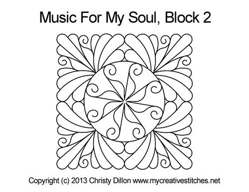 Music for my soul quilt design for square block 2