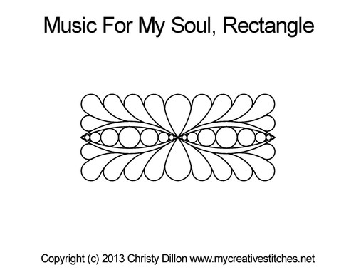 Music for my soul rectangle quilt designs