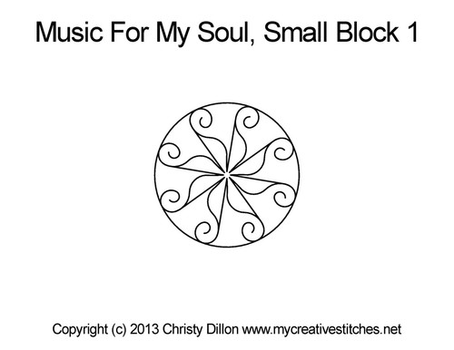 Music for my soul small block 1 quilt design