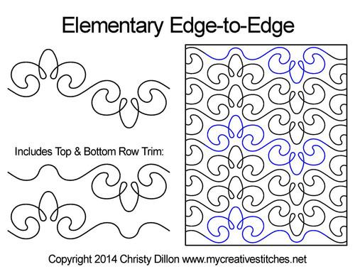 Elementary Edge-to-Edge