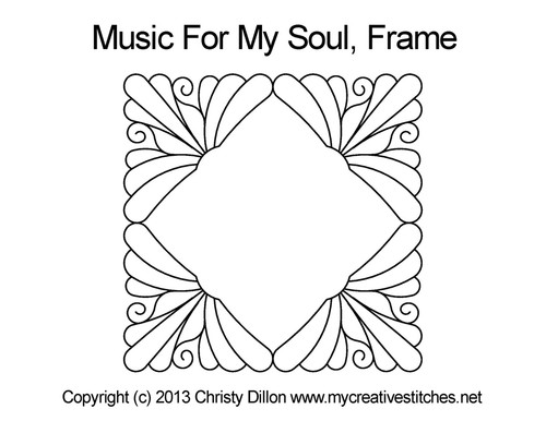 Music for my soul digital frame quilt designs