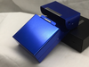 Blue  Aluminum Flip Top Box Cigarette Case
