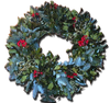 """Deluxe 20"""" Holly Wreath"""
