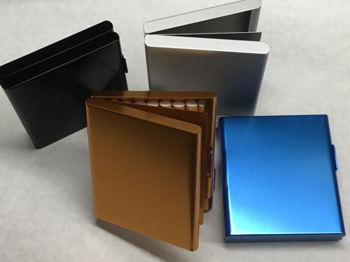 Aluminum Alloy Tri-Fold Cigarette Case - Assorted Colors