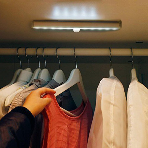 Motion Activated 10-LED Closet Light - Nightlight - Under Bed/Nightstand