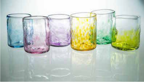 Each glass is unique and beautiful! Mix and match colors