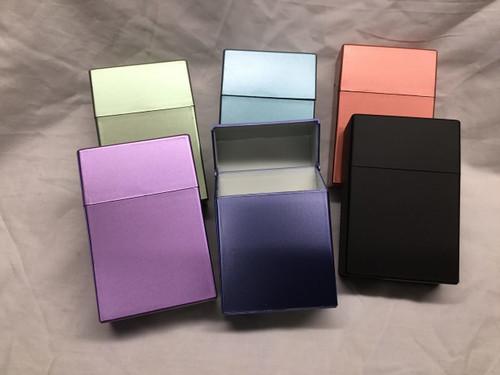 Flip Top Plastic King Size Cigarette Case-Assorted Colors