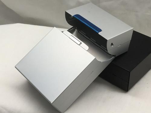Silver Aluminum Flip Top Box Cigarette Case