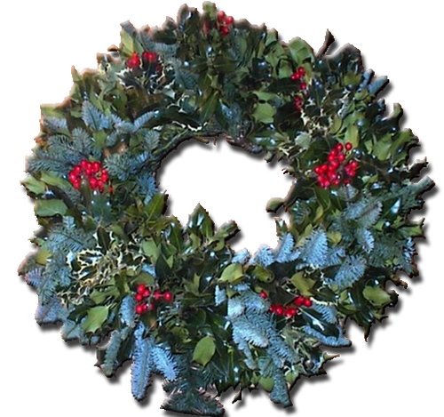 "Deluxe 20"" Holly Wreath"