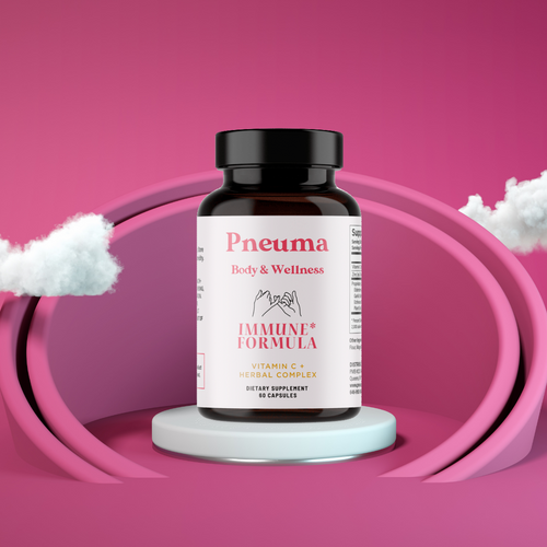 Pneuma Body and Wellness all natural Herbal Immune Boosting Complex ! Formulated with Zinc, Garlic Bulb Extract, Echinacea, Elderberry and Vitamin C Just For You  !
