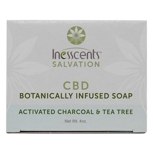 CBD Botanically Infused Soap - Activated Charcoal & Tea Tree