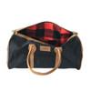 Travel - Weekender Duffle Bag | Red Canvas - Black Leather Trim | Medium/Small