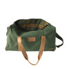 Travel - Weekender Duffle Bag   Olive Green Canvas - Leather   Large