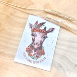 Girrafe | Recycled Paper Plantable Greeting Card | Handmade in South Africa