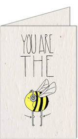 Bee's Knees | Recycled Paper Plantable Greeting Card | Handmade in South Africa