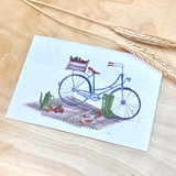 Bicycle | Recycled Paper Plantable Greeting Card | Handmade in South Africa