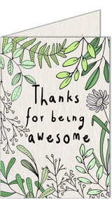 Thanks for being Awesome | Recycled Paper Plantable Greeting Card | Handmade in South Africa