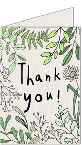 Thank You | Recycled Paper Plantable Greeting Card | Handmade in South Africa