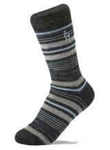Alpaca Socks - Stripe - Azul (L) | Handmade in Peru