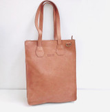 Genuine Leather Tote/Laptop Bag/Briefcase for Women | Light Brown | Handmade in Kenya