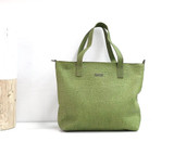 Genuine Leather Tote Bag | Shamrock Green | Handmade in Kenya