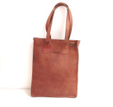 Genuine Leather Tote/Laptop Bag/Briefcase for Women | Tan Brown | Handmade in Kenya