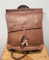 Leather Backpack Mini - Cafe Au Lait   Genuine Leather   Women's   Handmade in Kenya