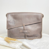 Genuine Leather Satchel/Messenger Bag - Small | Light Brown | Unisex | Handmade in Kenya