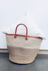 Kiondo Basket | Natural With White Design | 14"