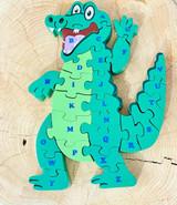 Crocodile Alphabet Puzzle | Double Sided | Made in Sri Lanka