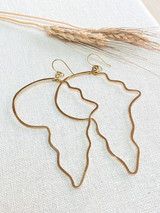 Hand-Hammered Earrings | Africa Wired | Gold Brass | Hand Hammered in Kenya