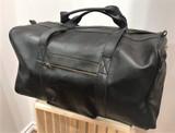 Leather Weekender/Travel Bag   Black   Handmade in Kenya