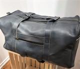 Leather Weekender/Travel Bag   Dark Teal   Handmade in Kenya