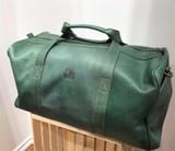 Leather Weekender/Travel Bag   Dark Green   Handmade in Kenya