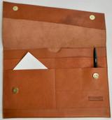 Leather Folio | Laptop Sleeve | Tan | Handmade in Kenya