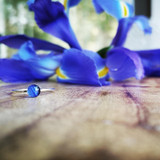 Blue Flag Iris Stacking Ring ~ Sliver | Handmade in Victoria