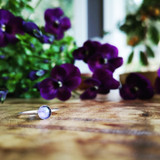 Purple Violet Stacking Ring ~ Silver | Handmade in Victoria