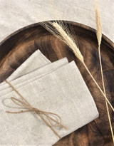 Dinner Napkins - Set of 2 | Natural - Cotton/Linen | Handmade in Vancouver
