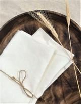 Dinner Napkins - Set of 2 | White - Linen | Handmade in Vancouver