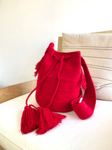 Mochila Wayuu Bag | Red | Handmade in Columbia