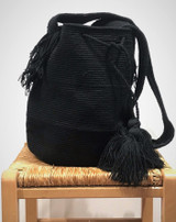 Mochila Wayuu Bag   Black   Handmade in Colombia