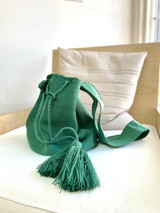 Mochila Wayuu Bag | Light Green | Handmade in Columbia