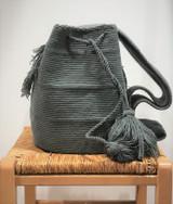 Mochila Wayuu Bag   Grey   Handmade in Colombia