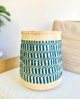 Kiondo Basket - Natural & Teal | 10"