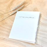 Greeting Card | I Can't Imagine Working Without You.