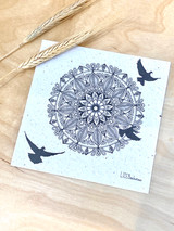 Mandala Birds In Flight | Recycled Paper Plantable Greeting Card | Handmade in South Africa