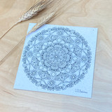 Mandala | Recycled Paper Plantable Greeting Card | Handmade in South Africa